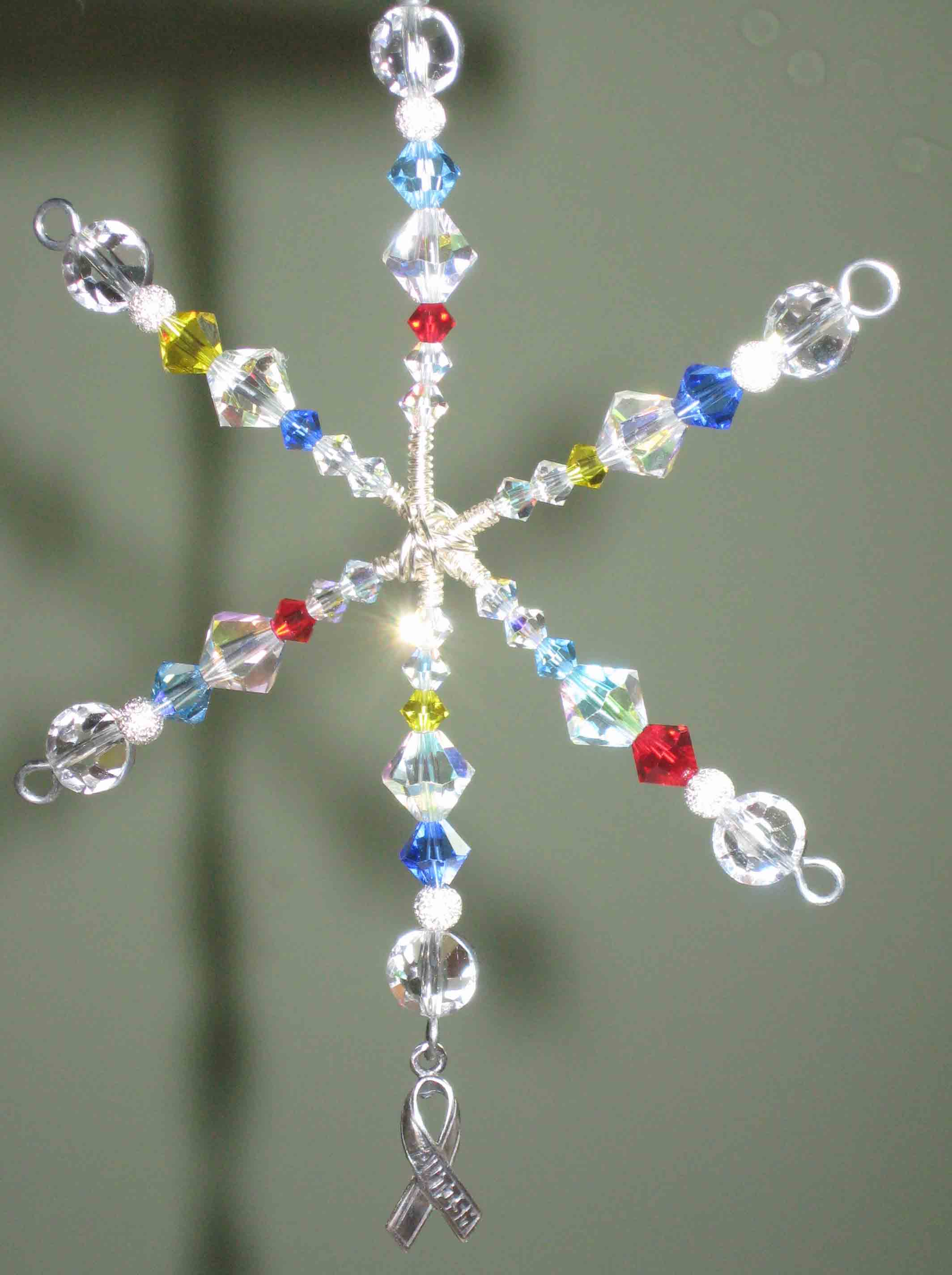 Autism Awareness Crystal Ornament Sun Catcher